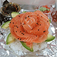 Chirashi saumon et avocat