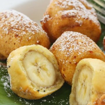 Beignets pomme, banane ou ananas